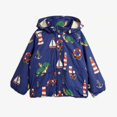 Turtle Jacke aus recyceltem Material in Navy