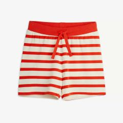 Stripe Shorts aus Tencel in Rot/Weiß
