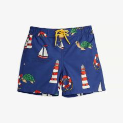 Turtle Badeshorts aus recyceltem Material in Navy