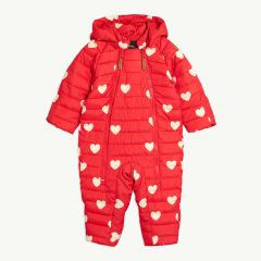 Hearts Wattierter Baby Overall in Rot