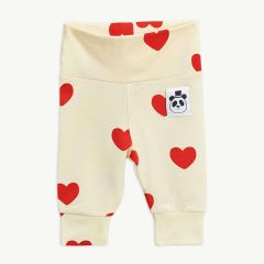 Hearts Baby Leggings aus Tencel in Offwhite