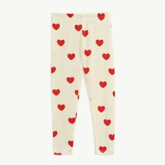 Hearts Leggings aus Tencel in Offwhite
