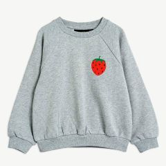 Strawberry Sweatshirt aus Bio-Baumwolle in Grau Melange