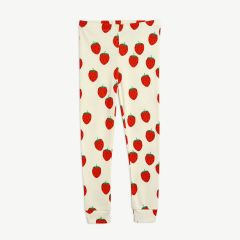 Strawberry Leggings aus Bio-Baumwolle in Offwhite