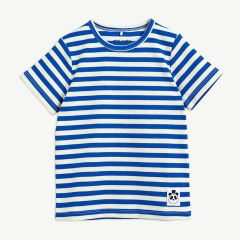 Stripes Geripptes T-Shirt aus Bio-Baumwolle in Blau