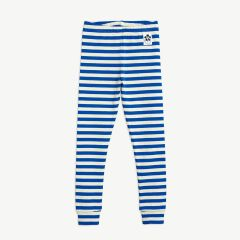 Stripes Gerippte Leggings aus Bio-Baumwolle in Blau