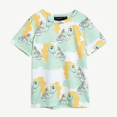 Unicorn Noodles T-Shirt aus Tencel in Grün