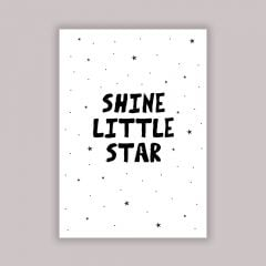 """Shine Little Star"" Poster in A4"