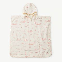 Badeponcho Life Aquatic in Grapefruit Pink