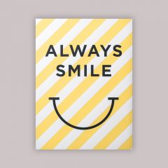 """Always Smile"" Poster"