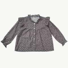 Ditsy Roony Bluse aus Baumwollmix in Washed Indigo