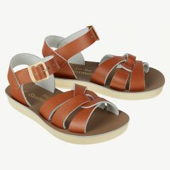 Swimmer Ledersandalen für Kinder in Tan