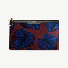 """Leaves"" kleine Clutch aus Samt"