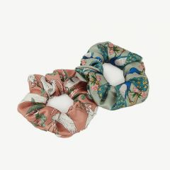 Royal Forest & Sunset Lagoon Scrunchies/ Haargummis in Bunt - 2er-Pack