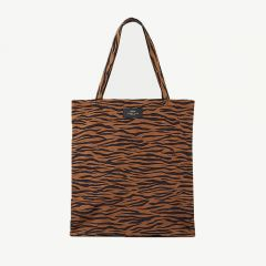 Tiger Faltbare Tote Bag in Braun