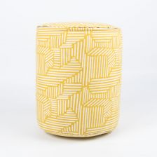 Mini Cylindrical Pouf in Bamboo