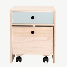 Blue Wooden Bedside Table