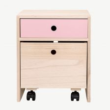 Rose Wooden Bedside Table