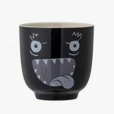 Black Stoneware Monster Cup
