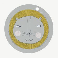 Grey Round LION Placemats