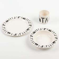 """Tool School"" Kids' Tableware Set Made of Melamine"
