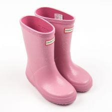 "Kids ""First Classic"" Gummistiefel in Rosa Glitzer"