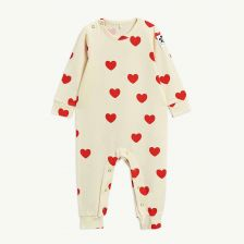 Hearts Baby Overall aus Tencel in Offwhite