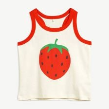 Strawberry Tanktop aus Bio-Baumwolle in Offwhite