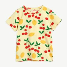 Cherry Lemonade T-Shirt aus Bio-Baumwolle in Gelb