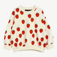Strawberry Sweatshirt aus Bio-Baumwolle in Offwhite