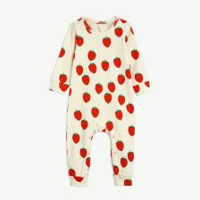 Strawberry Overall aus Bio-Baumwolle in Offwhite