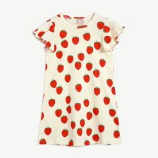 Strawberry Kleid aus Bio-Baumwolle in Offwhite