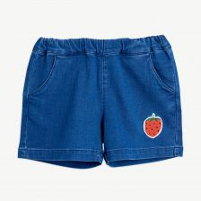 Strawberry Denim Shorts aus Bio-Baumwolle in Blau