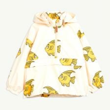 Fish Funktionsjacke aus recyceltem Material in Offwhite