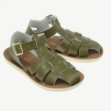 Shark Ledersandalen für Kinder in Olive