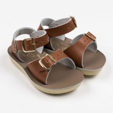 Surfer Ledersandalen für Kinder in Tan