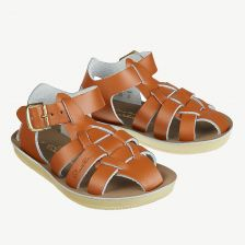 Shark Ledersandalen für Kinder in Tan