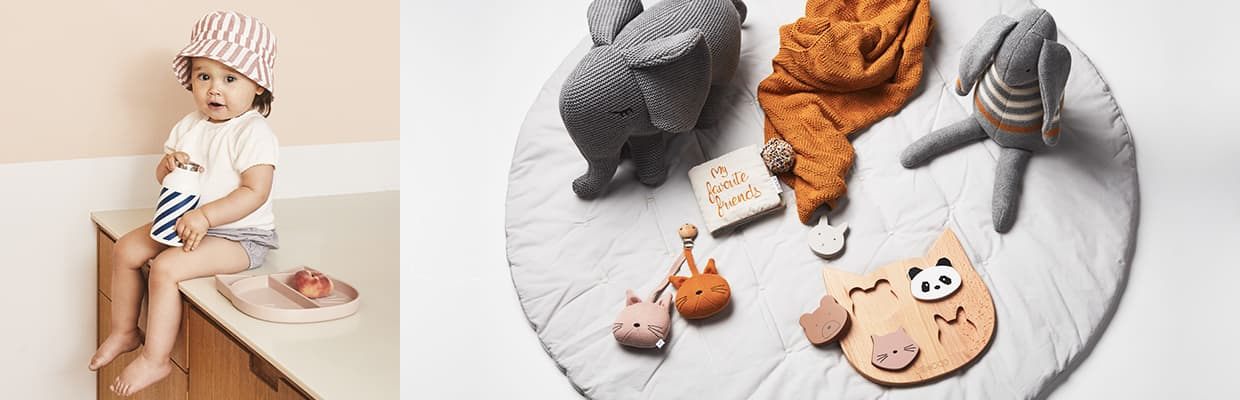 Accessories for babies and décor for kids' rooms in Scandinavian design