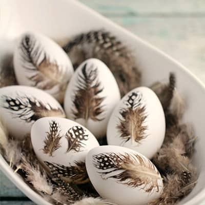 Feather Easter Eggs