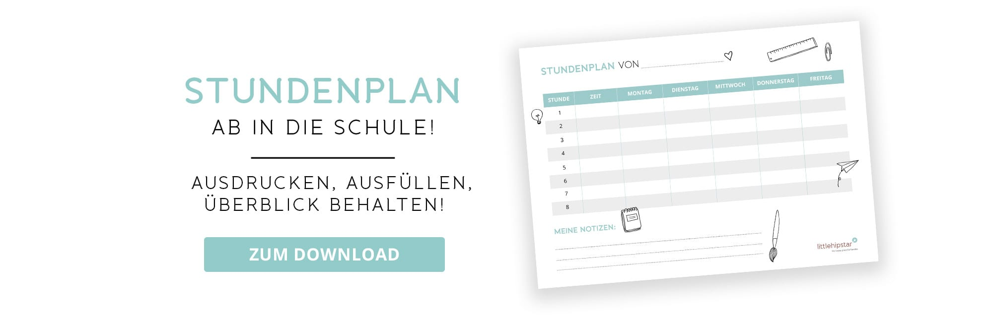 Stundenplan zum Downloaden